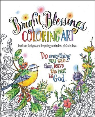 Bright Blessings Coloring Art  -