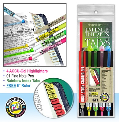 Bible Study Starter Set, Rainbow Bible Tabs  -