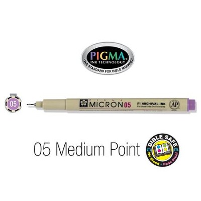 PIGMA Micron 05, Medium Bible Note Pen/Underliner, Violet   -
