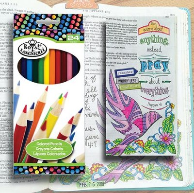 Colored Pencil Set, Pack of 24  -