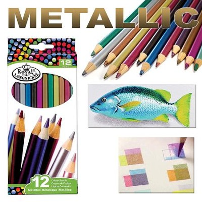 Colored Pencil Set, Metallic, Pack of 12  -