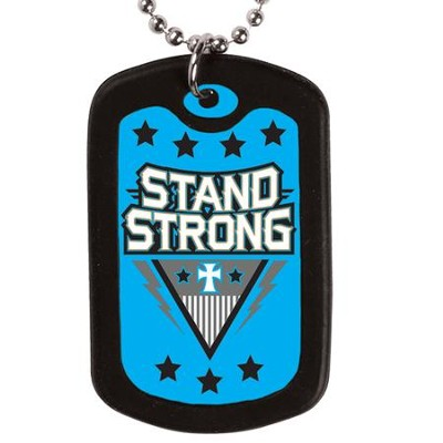 Stand Strong, Faith Tag Necklace  -