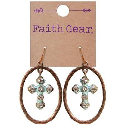 Oval Crosses Earrings  -