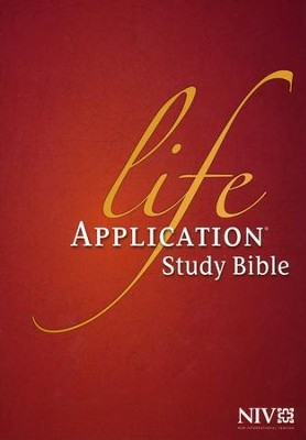 NIV Life Application Study Bible, Indexed Hardcover  -