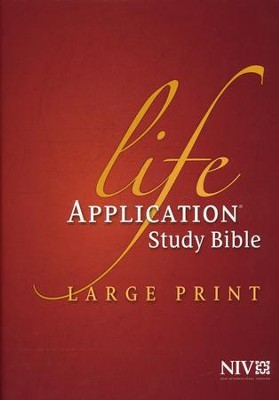 NIV Life Application Study Bible NIV Large Print, Hardcover  -