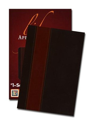NIV Life Application Study Bible, TuTone Brown/Tan Leatherlike - Imperfectly Imprinted Bibles  -