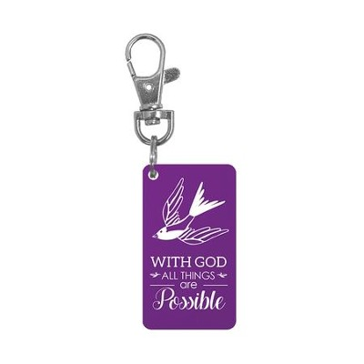 With God All Things Are Possible Keyring   -