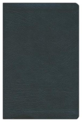 KJV Large-Print Personal-Size Reference Bible--bonded leather, black  -