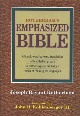 Rotherham's Emphasized Bible   -     Edited By: Joseph Bryant Rotherham     By: Joseph Bryant Rotherham