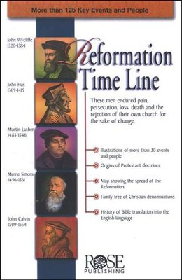 Reformation Time Line Pamphlet - 5 Pack  -