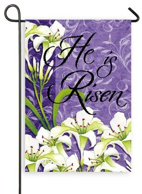 He Is Risen, Small Flag  -     By: Joy Hall