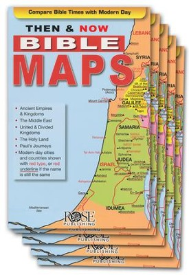 Then & Now Bible Maps, Pamphlet - 5 Pack   -