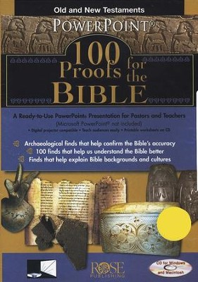 100 Proofs for the Bible: PowerPoint CD-ROM  -