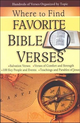 Where to Find Favorite Bible Verses Pamphlet   -