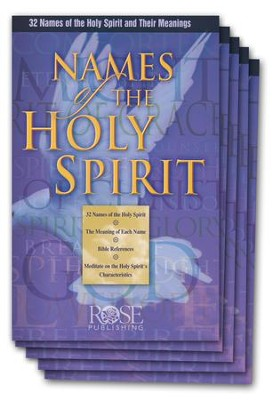 Names of the Holy Spirit Pamphlet - 5 Pack   -