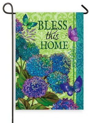 Bless This Home, Small Flag  -     By: Tina Wenke