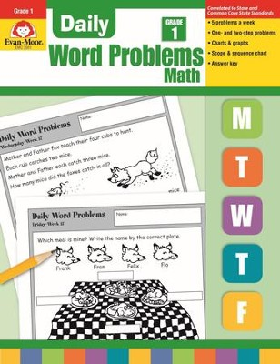 Daily Word Problems, Grade 1   -     By: Homeschool