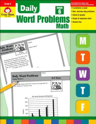 Daily Word Problems, Grade 6   -
