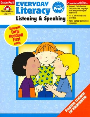 Everyday Literacy Listening and Speaking, Grade PreK   -