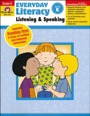 Everyday Literacy Listening and Speaking, Grade K   -