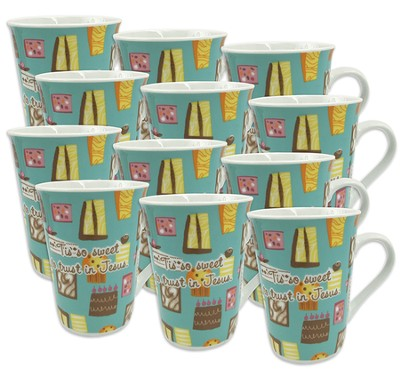 Tis So Sweet To Trust, Case of 12 Gift Boxed Mugs  -
