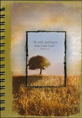 Large Spiral-bound Journal - Be Still and Know That I Am God  -