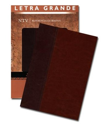 Biblia Ref. Ultrafina Letra Gde. NTV, Sentipiel Cafe/Cafe Claro  (NTV Slimline Lgpt. Ref. Bible, Imit. Leather Brown)  -     Translated By: Tyndale