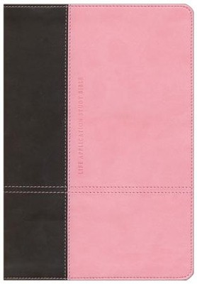 NLT Life Application Study Bible, TuTone Dark Brown/Pink Leatherlike  -     By: Tyndale