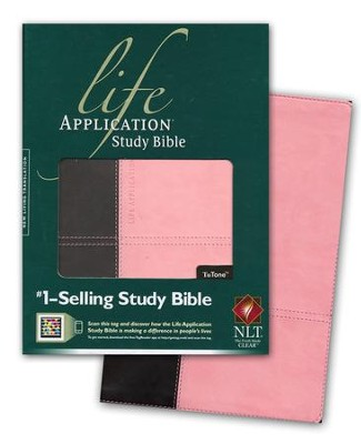 NLT Life Application Study Bible, TuTone Dark Brown/Pink Indexed Leatherlike  -     By: Tyndale