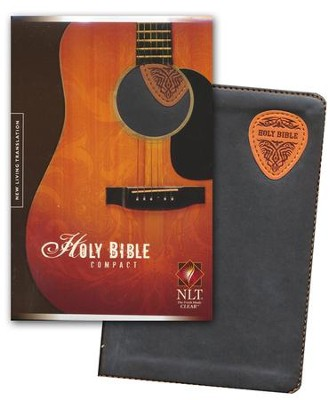 NLT Compact Edition, TuTone Brown/Tan Guitar Pick Leatherlike  -     By: Tyndale