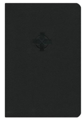 NLT Compact Edition, Black Cross Leatherlike  -     By: Tyndale