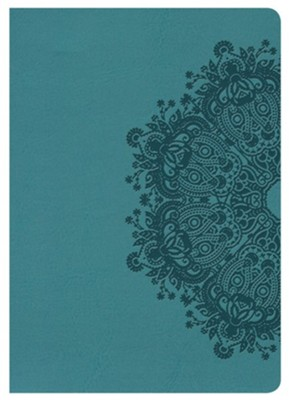 KJV Large Print Compact Reference Bible, Teal LeatherTouch  -