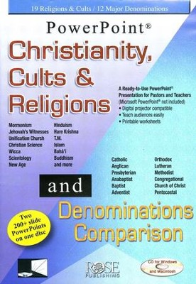 Christianity, Cults & Religions/Denominations Comparison--2-in-1 PowerPoint Presentation  -