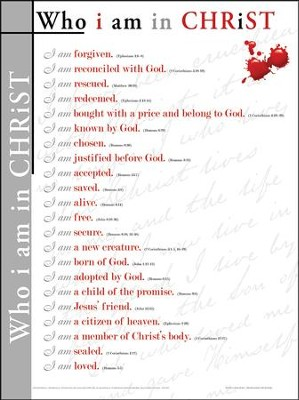 Who I Am in Christ, Laminated Wall Chart   -