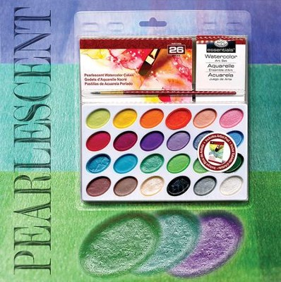 Watercolor Paint Set, Pearlescent  -