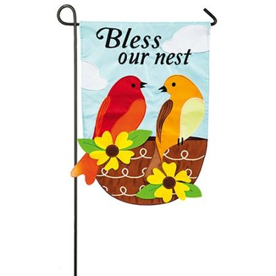 Bless Our Nest Applique Flag, Small  -