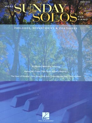 More Sunday Solos for Piano (Preludes, Offertories & Postludes)  -