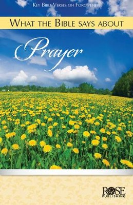 What the Bible Says about Prayer, Pamphlet  -