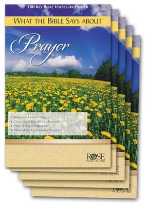What the Bible Says About Prayer Pamphlet - 5 Pack  -