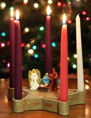 Nativity Star Advent Wreath   -