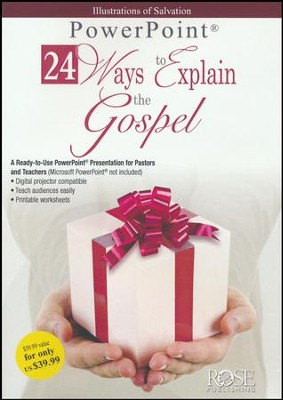 24 Ways to Explain the Gospel - PowerPoint CD-ROM   -