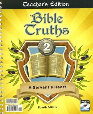 BJU Bible Truths Grade 2 Teacher's Edition with CD-ROM   (Fourth Edition)  -