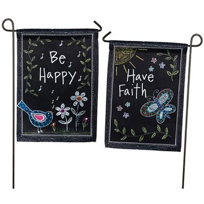 Be Happy Flag, Small  -     By: Annie LaPoint