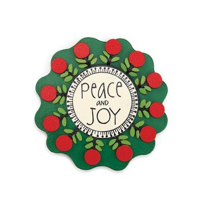 Peace and Joy Flower Magnet  -     By: Carol Roeda