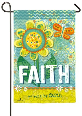 Walk By Faith Flag, Small  -     By: Velvet Lime Girls