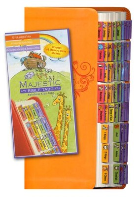 Majestic Bible Tabs-Rainbow for Kids   -