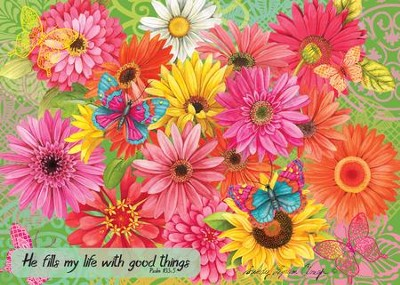Good Things (Cheerful Bouquet), 1000 Piece Jigsaw Puzzle   -     By: Sandy Clough