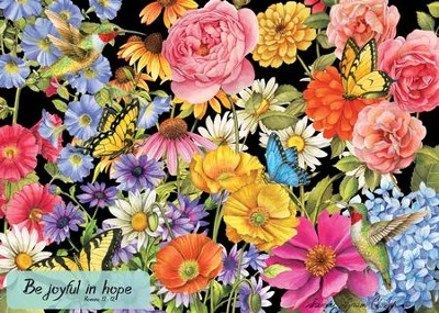 Be Joyful (Butterfly Garden), 1000 Piece Jigsaw Puzzle (Romans 12:12)  -     By: Sandy Clough