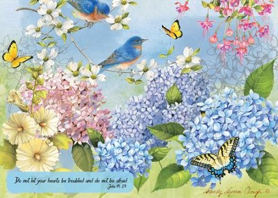 Do Not Be Afraid (Hydrangea Garden), 1000 Piece Jigsaw Puzzl  e (John 14:27)  -     By: Sandy Clough