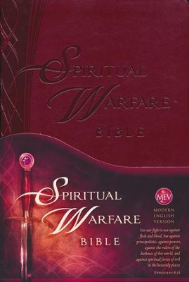 The Spiritual Warfare Bible: Modern English Version (MEV), Leather, imitation  -     By: Charisma House